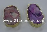NGP3756 30*40mm - 40*50mm freeform druzy agate pendants