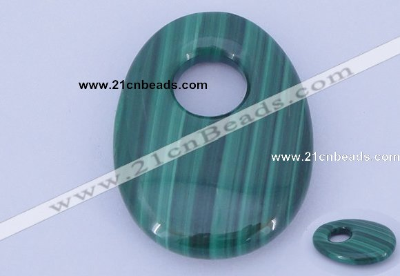 NGP734 20*30mm oval natural malachite gemstone pendant wholesale