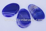 NGP862 5PCS 30-35mm*50-60mm freeform agate gemstone pendants