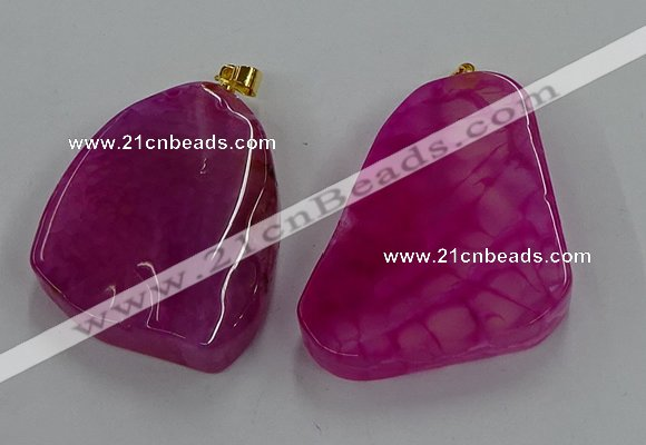 NGP8661 20*40mm - 40*50mm freeform agate pendants wholesale