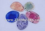 NGP877 5PCS 40-50mm*50-70mm freeform agate gemstone pendants