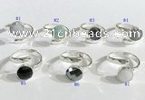 NGR1101 10mm faceted coin  mixed gemstone rings wholesale
